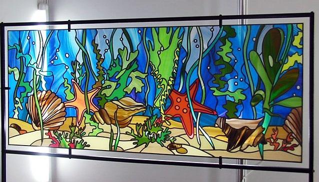 Витражный аквариум